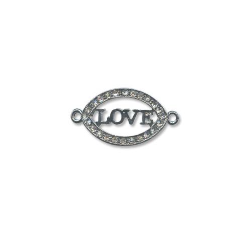 "Z/A Oval ""LOVE"" 36x20mm"
