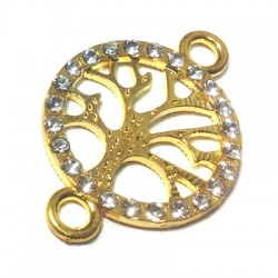 Rhinestone tree 19mm W/ 2 Rings