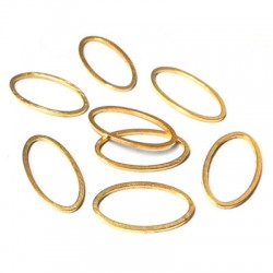 Brass Oval Ring 8x15mm