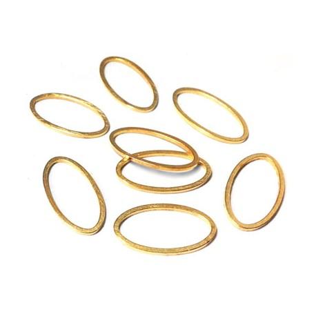 Brass Oval Ring 8x15mm