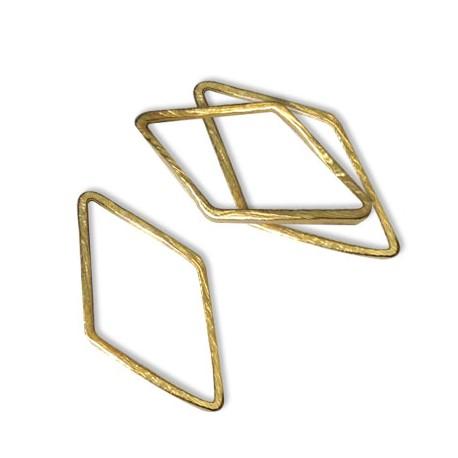 Brass Rhombus Ring 9.5x16.5mm