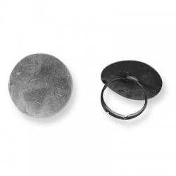 Μεταλλικό Μπρούτζινο Δαχτυλίδι με Στρογγυλή Βάση 25mm