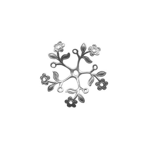 Brass Filigree Cup Flower 35mm