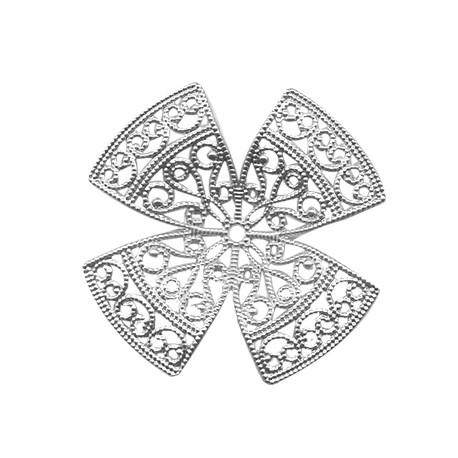 Brass Filigree Flower with 4 Petals 53mm