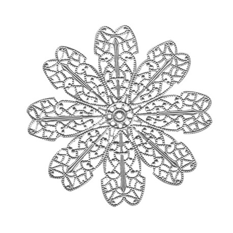 Brass Filigree Flower with 8 Petals 65mm