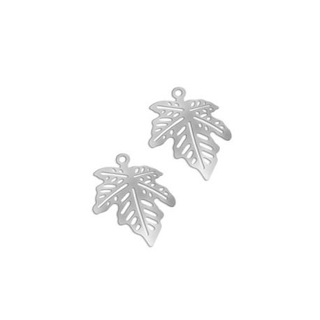 Brass Filigree Leaf (Lase Cut) 14x11..