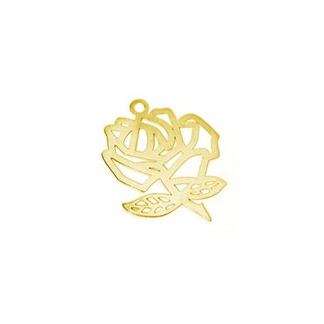Brass Filigree Rose (Laser Cut) 14x11mm