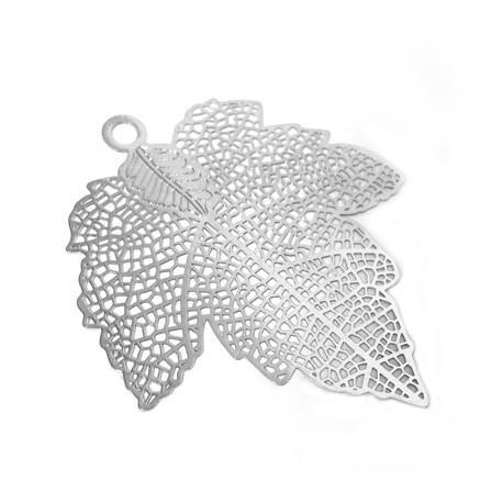 Brass Filigree Leaf (Laser Cut) 39x44mm