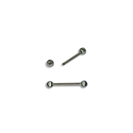 Brass Bar WIth Screw Ball Ends 20x1.5mm (balls 4mm)