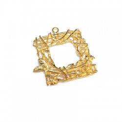 Brass Charm Square 19mm