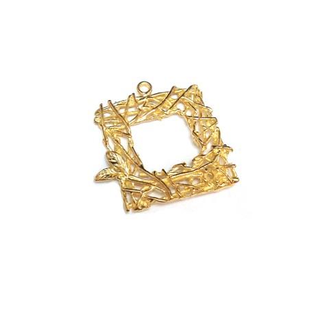 Brass Charm Square 19mm