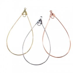 Brass Wire Earring Drop 26x52mm with Loop