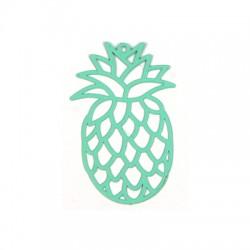 Brass Filigree Pineapple Pendant 48x30mm