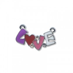 "Z/A Enamel ""Love"" 23*14mm"