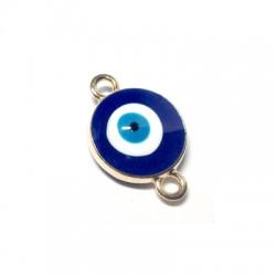 Μεταλλικό Στοιχείο Μάτι Στρογγυλό με Σμάλτο για Μακραμέ 16mm