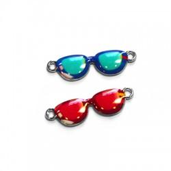 Zamak Enamel Connector Sunglasses 24x9mm