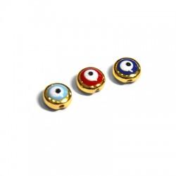 Zamak Slider Eye w/ Enamel 8x4mm