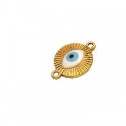 Μετ. Ζάμακ Χυτό Στοιχείο Στρογ. Μάτι Σμάλτο για Μακραμέ 15mm