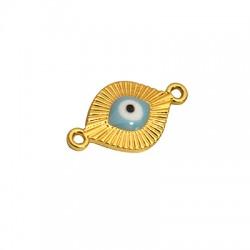 Zamak Connector Oval Eye w/ Enamel 13x18mm