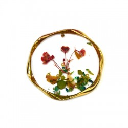 Zamak Pendant Round Flower w/ Enamel 40mm