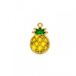 Zamak Pendant Pineapple w/ Enamel 17x25mm