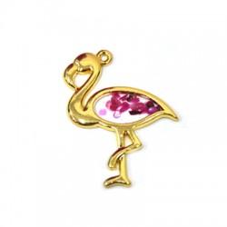 Ciondolo in Zama Smaltato Flamingo 26x34mm