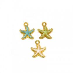 Zamak Charm Starfish w/ Enamel 15mm