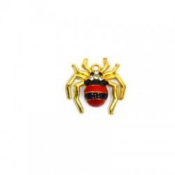Zamak Pendant Spider w/ Enamel 22x20mm