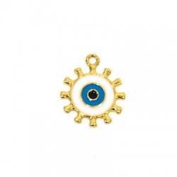 Zamak Charm Eye w/ Enamel 21mm