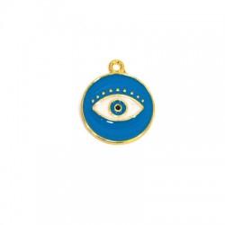 Zamak Charm Eye w/ Enamel 18mm