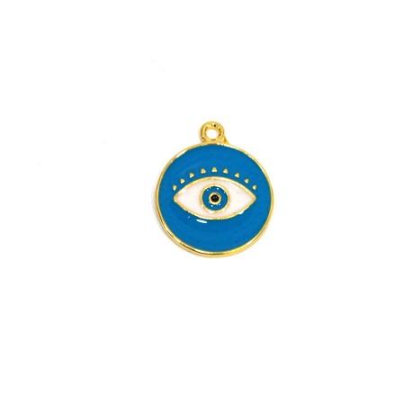 Μεταλλικό Ζάμακ Χυτό Μοτίφ Στρογγυλό Μάτι με Σμάλτο 18mm