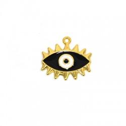 Zamak Pendant Eye w/ Enamel 23x18mm