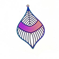 Stainless Steel Pendant Drop 55x30mm