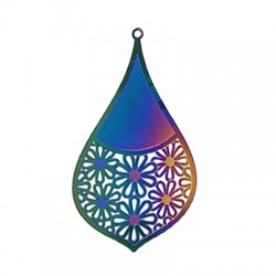 Stainless Steel Pendant Drop 56x35mm