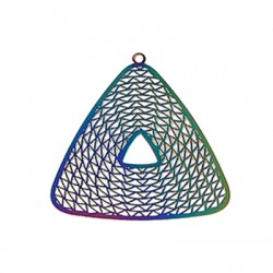 Stainless Steel Pendant Triangle 38x40mm