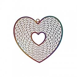 Stainless Steel Pendant Heart 42x41mm