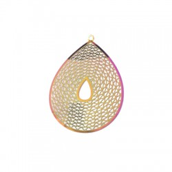 Stainless Steel Pendant Drop 45x35mm