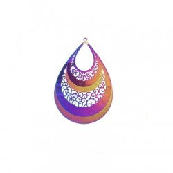 Stainless Steel Pendant Drop 54x38mm