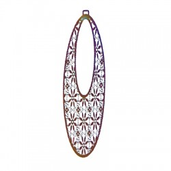 Stainless Steel Pendant Drop 92x30mm