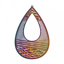 Stainless Steel Pendant Drop 78x50mm