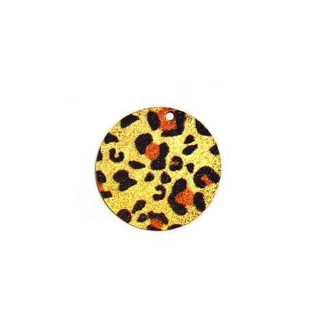 Ciondolo in Acciaio Inox Rotondo dipinto 30mm