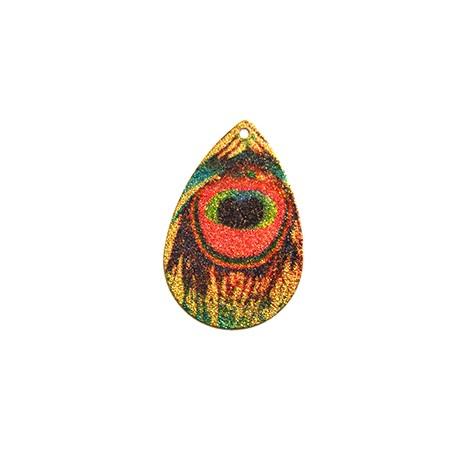 Ciondolo in Acciaio Inox Goccia dipinta 24x36mm