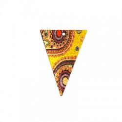 Ciondolo in Acciaio Inox Triangolo dipinto 25x35mm