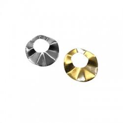 Steel Pendant Round Irregular 43mm