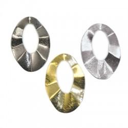 Steel Pendant Oval Irregular 34x50mm