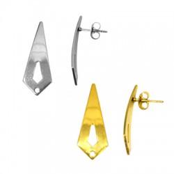 Stainless Steel 304 Earring Geometrical w/ Loop 11x28mm