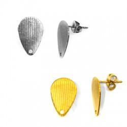Stainless Steel 304 Earring Drop w/ Loop 10x16mm