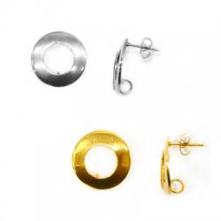 Stainless Steel 304 Earring Round w/ Loop 18mm