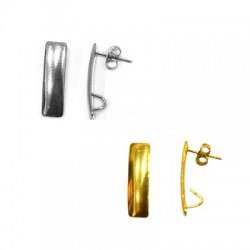 Stainless Steel 304 Earring Parallelogram w/ Loop 18mm