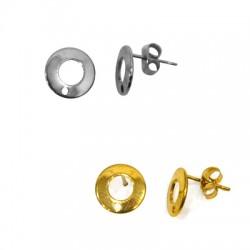 Stainless Steel 304 Σκουλαρίκι Κύκλος με Τρύπα 10mm